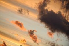 Wolkenlucht ondergaande zon (Mallorca)