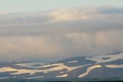 Besneeuwde hoogvlakte
