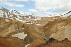 Kleurrijke vulkaanbergen IJsland