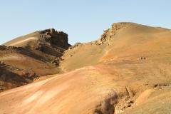 Kleurrijke vulkanische afzettingen